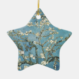 Almond branches in bloom, 1890, Vincent van Gogh Ceramic Star Ornament