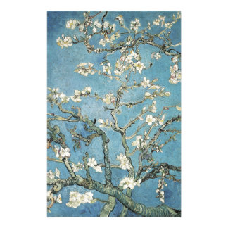 Almond branches in bloom, 1890, Vincent van Gogh Custom Stationery