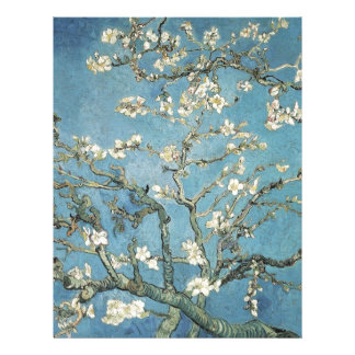 Almond branches in bloom, 1890, Vincent van Gogh Letterhead Design