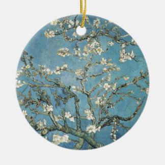 Almond branches in bloom, 1890, Vincent van Gogh Round Ceramic Ornament