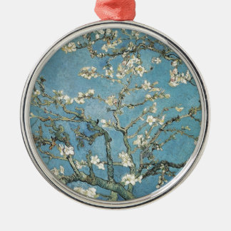 Almond branches in bloom, 1890, Vincent van Gogh Silver-Colored Round Ornament