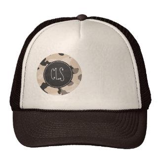 Almond Color Camo; Retro Chalkboard Hats