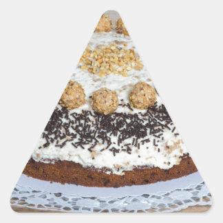 Almond nut cake on rus triangle sticker