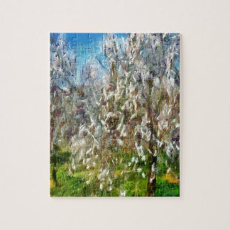 Almond Orchard Blossom Jigsaw Puzzle