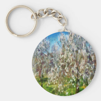 Almond Orchard Blossom Keychain