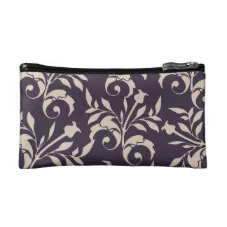 Almond Rose Swirl Cosmetic Bags