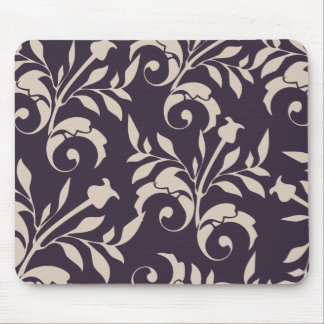 Almond Rose Swirl Mouse Pad