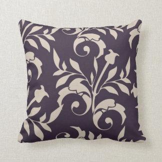 Almond Rose Swirl Throw Pillow
