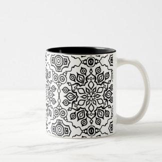 Almond Rosette Two-Tone Coffee Mug