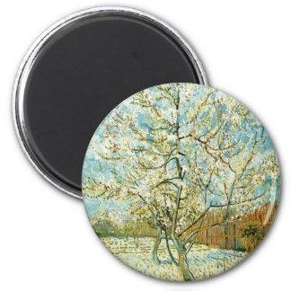 Almond tree 2 inch round magnet