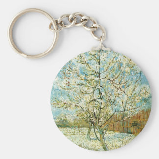 Almond tree basic round button keychain
