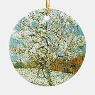 Almond tree ceramic ornament