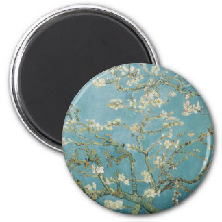 Almond tree in blossom by Vincent Van Gogh 2 Inch Round Magnet