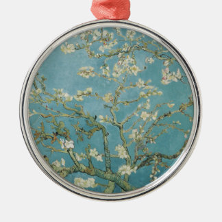 Almond tree in blossom by Vincent Van Gogh Silver-Colored Round Ornament