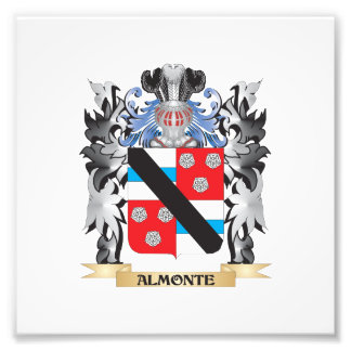 Almonte Coat of Arms - Family Crest Photographic Print