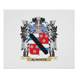 Almonte Coat of Arms - Family Crest Poster