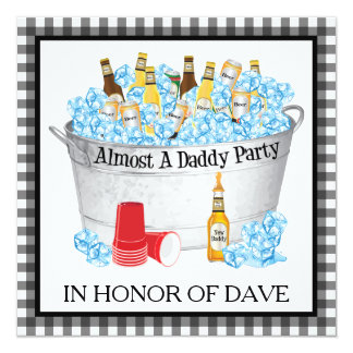 Almost a Daddy Baby Shower Beer Party Card