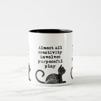 Almost all creativity involves purposeful play I Two-Tone Coffee Mug