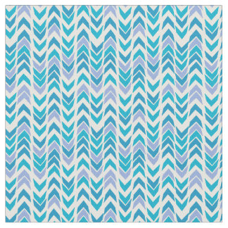 Almost Chevrons in blue and yellow Fabric
