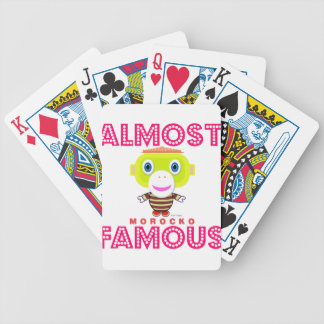 Almost Famous-Cute Monkey-Morocko Bicycle Playing Cards