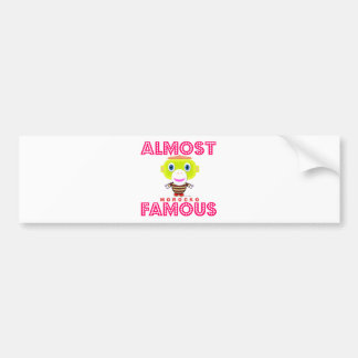 Almost Famous-Cute Monkey-Morocko Bumper Sticker