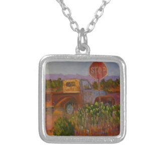 Almost Home Silver Plated Necklace