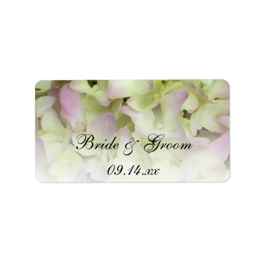 Almost Pink Hydrangea Wedding Favour Tags