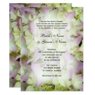 Almost Pink Hydrangea Wedding Invitation