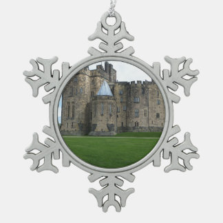 Alnwick Castle UK Snowflake Pewter Christmas Ornament