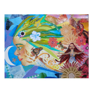 Aloe Collage Postcard