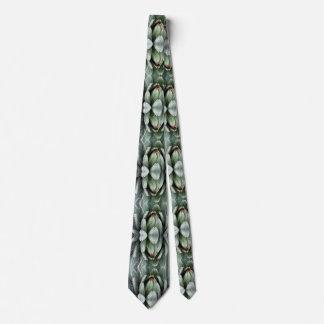 Aloe Green Plant Photo Fractal on Tie