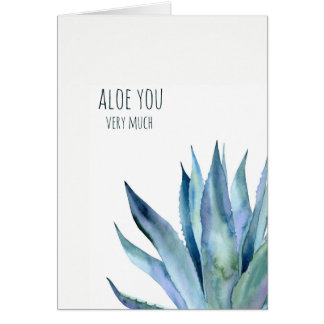 Aloe you very much pun Valentines card
