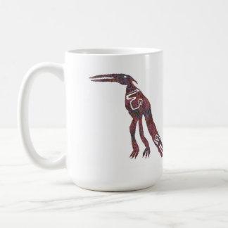 Aloebird, petroglyph, Aloe Image 1 Mug