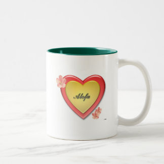 Alofa Samoa w/Gold Heart Two-Tone Coffee Mug