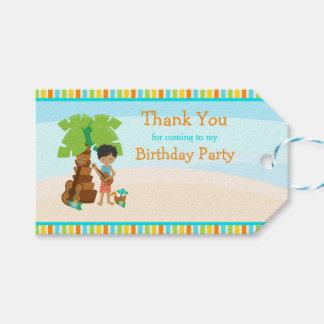 Aloha African American Boy Gift Tag
