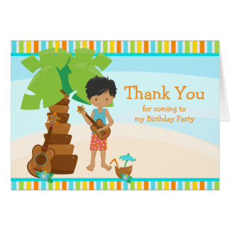 Aloha African American Boy Thank You Card