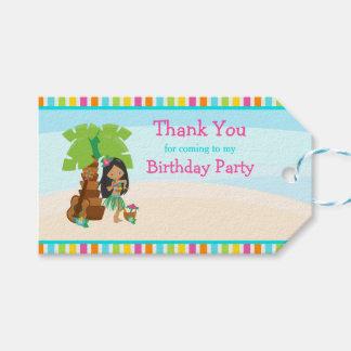 Aloha African American Girl Gift Tag