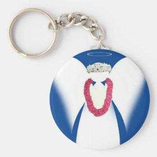 Aloha Angel Basic Round Button Keychain