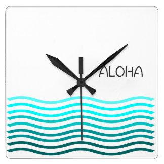Aloha Aqua Ombre Clock