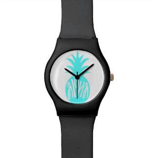 Aloha Aqua Pineapple Wristwatches