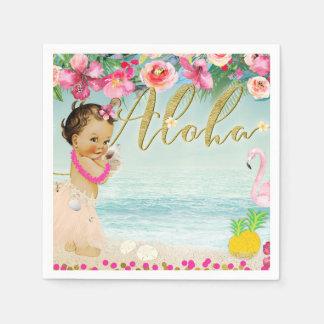 Aloha Baby Shower Hawaiian Beach Retro Party Disposable Napkin
