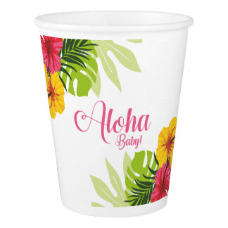 Aloha Baby Shower, Luau Cups