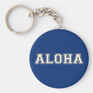 Aloha Basic Round Button Keychain