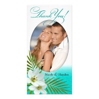 Aloha Beach Tropical Flowers Card
