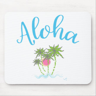 Aloha Beaches Hawaiian Style Summer Mouse Pad