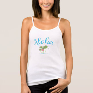 Aloha Beaches Hawaiian Style Vacation Cool Tank Top