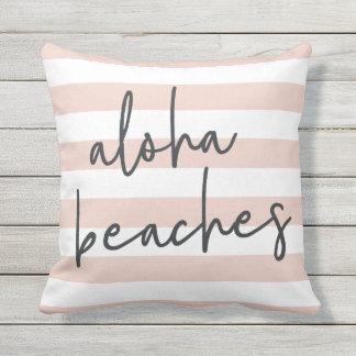 Aloha Beaches Outdoor Outdoor Pillow