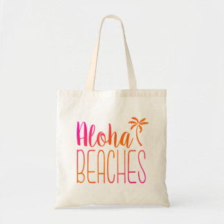 Aloha Beaches | Pink and Orange Tote Bag