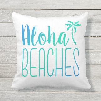 Aloha Beaches | Turquoise Ombre Pillow