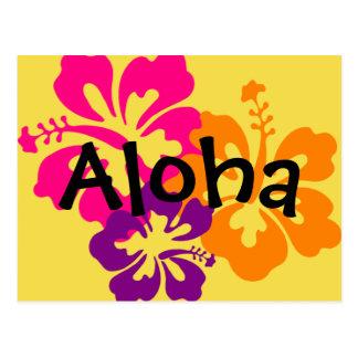 Aloha Bold Flowers Postcard